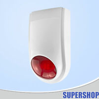 433MHz Wireless Outdoor Flash Strobe Siren Lot For Home Security Alarm system