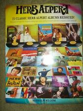 "Herb Alpert          PROMO POSTER         ""The Reissues""     18"" x 24"""