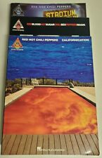 RED HOT CHILI PEPERS LOT OF 3 GUITAR TAB SONGBOOK STADIUM BLOOD SUGAR CALIFORNIA