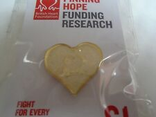 White Sparkle Heart For British Heart  Foundation Pin Badge BNIP