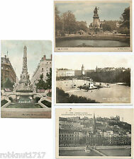 LOT 4 CPA Monument Place Carnot Bellecour Colline de Fourvières LYON 69 [1077 A]
