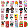 3D Cute Cartoon Animals Flower Soft Silicone Case Cover Back Skin For iPhone