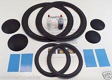 """JBL 4315 4315A 4315B - 12"""" Woofer & 8"""" Mid Foam Speaker Repair Kit w/ Dust Caps!"""