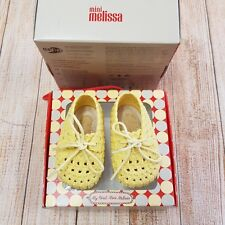 Mini Melissa Baby My First Mini Tricot Ballet Flat Shoes, Yellow, Size US 3, New