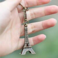 Retro Mini Eiffel Tower Keychain Paris Tour Holder Ring Bag Charm Pendant