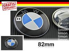 BMW Emblem 82mm Motorhaube Heckklappe 3er 5er 6er 7er Logo 51148132375 Blau E205