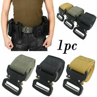 Men's Military Belt Tactical Army Hunting Outdoor Waistband Training Belt N M4Z6