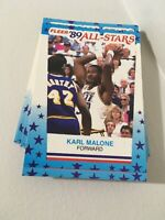 1989-90 Fleer Sticker Lot 22 Cards Malone Barkley Etc
