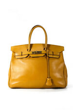 Hermes Gold Tone Courcheval Leather