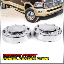 2000-2016 Dodge Ram 3500 1-Ton Dually Front Wheel Chrome Center Caps 2PCS Silver