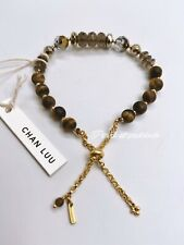 New Chan LUU Gold Crystal And Stone bracelet In Ribbon Wrapped Gift Box