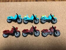 Lego motorcycle Lot of 6 Harley Davidson motorcycles minifig accessories D508B