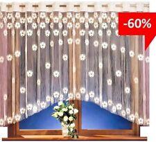String Curtain Panel White Net Window Door Fly Screen Tassels Fringe Blind