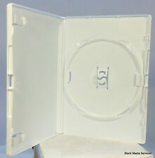 100 x Standard White DVD Case 14 mm Spine Empty Replacement Amaray Cover NEW UK