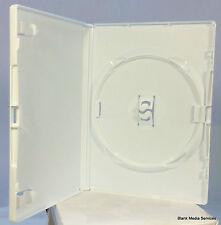 100 x standard boîtier DVD blanc 14 mm spine vide remplacement Amaray couverture NOUVEAU UK