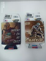 STAR WARS THE MANDALORIAN  CAN BOTTLE COOZIE COOLER HOLDER Lot of 2 New USA!