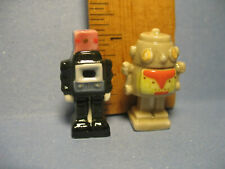 ROBOTS Vintage Style Tin Toy Robot French Feves Figurines Miniatures