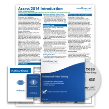 MICROSOFT ACCESS 2016 DELUXE Training Tutorial Course with Quick Reference Guide