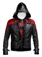 New Batman Arkham Knight Game Red Hood Leather Jacket & Vest Costume