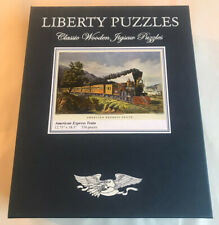 LIBERTY CLASSICS WOODEN JIGSAW PUZZLE American Express Train 530 Pieces