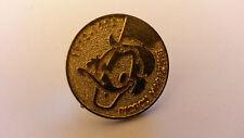 Picsou magazine Scrooge McDuck Round Gold colour Disney Pin