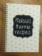 A5 Personalised Thermie Recipe Journal Thermomix Recipes cook book - thermo mix