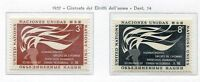 19023) UNITED NATIONS (New York) 1957 MNH** Nuovi** Human Rights