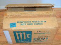 McIntosh MQ104 Environmental Equalizer Original Box Manuals Great Condition!