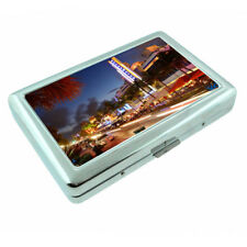 Florida South Beach Miami D8 Silver Metal Cigarette Case RFID Protection Wallet