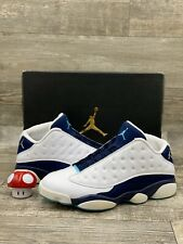 Nike AIR JORDAN 13 XIII RETRO LOW HORNETS WHITE BLUE SILVER 310810-107 SIZE 11