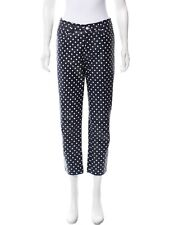 Ralph Lauren Purple Label Sexy Navy Blue Pants Polka Dot Skinny Leather Pants. 8
