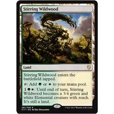 STIRRING WILDWOOD NM mtg Commander 2017 Land - Rare