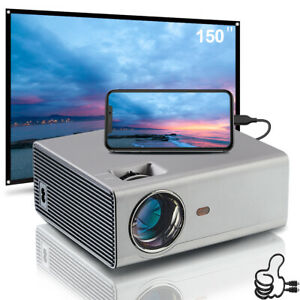 6000 Lumens Home Theater LED Video Projector 1080p FULL HD Projector Screen 100""