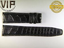 NEW OEM Authentic IWC strap 21 mm alligator  BLACK
