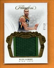 RUDY GOBERT 2017-18 PANINI FLAWLESS PATCHES GOLD GU PATCH /10