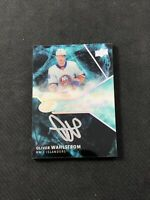 2019-20 UPPER DECK ICE OLIVER WAHLSTROM ROOKIE SUPERB SCRIPT AUTO #ed 4/49