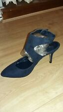 navy heeled ladies size 6.5 shoes