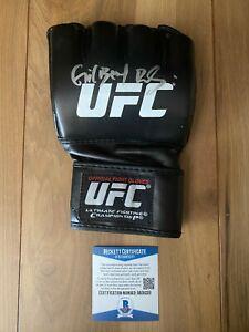 Gilbert Burns Signed UFC Glove COA Beckett #BA09229 Autographed