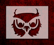 """Owl Face 8.5"""" x 11"""" Stencil FAST FREE SHIPPING (561)"""