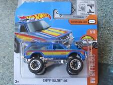 Hot Wheels 2017 # 034/365 Chevy Blazer 4x4 Azul HW Caliente Vagones
