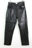 OLSEN Black Faux Leather Trousers UK12