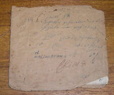 Antique 1848 School Copy Book - Filled Up - Perhaps German Writing?