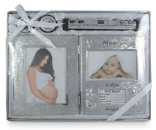 Mums Little Angel~Baby Photo Frame 1st Tooth Curl & Birth Certificate Holder Set