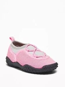 Old Navy Swim Water Pool Swimming Shoes Boys/Girls Pink Black 5, 9 New NWT