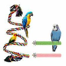 New listing Bird Perch Stand Bird Rope Perch Bird Toys 3 Pcs for Parakeets 39 Inch