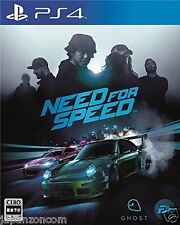 Used PS4 Need for Speed  SONY PLAYSTATION 4  JAPANESE JAPONAIS IMPORT