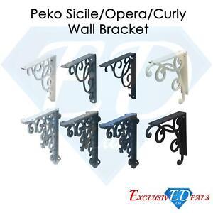 Cast Iron Wall Shelf Brackets - Heavy Duty Vintage Victorian Antique Rustic
