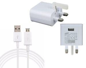 GENUINE SAMSUNG CHARGER PLUG OR MICRO USB FOR GALAXY S4 S5 S6 S7 J7 J8 J5 J1 A5
