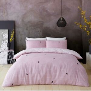 BEE HAPPY DUVET COVER PILLOW CASE Honeycomb Bedding Set Ultra Soft Quilt Covers