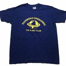 Transworld Sidebanders Vintage Radio X-Ray Club Blue Single Stitch T Shirt XL